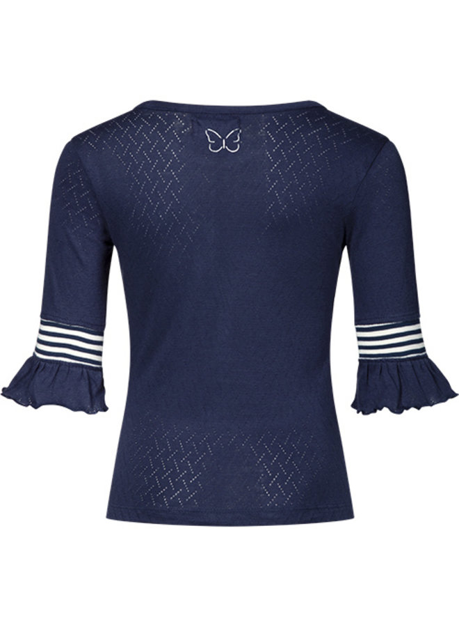 Knitted top Tess navy