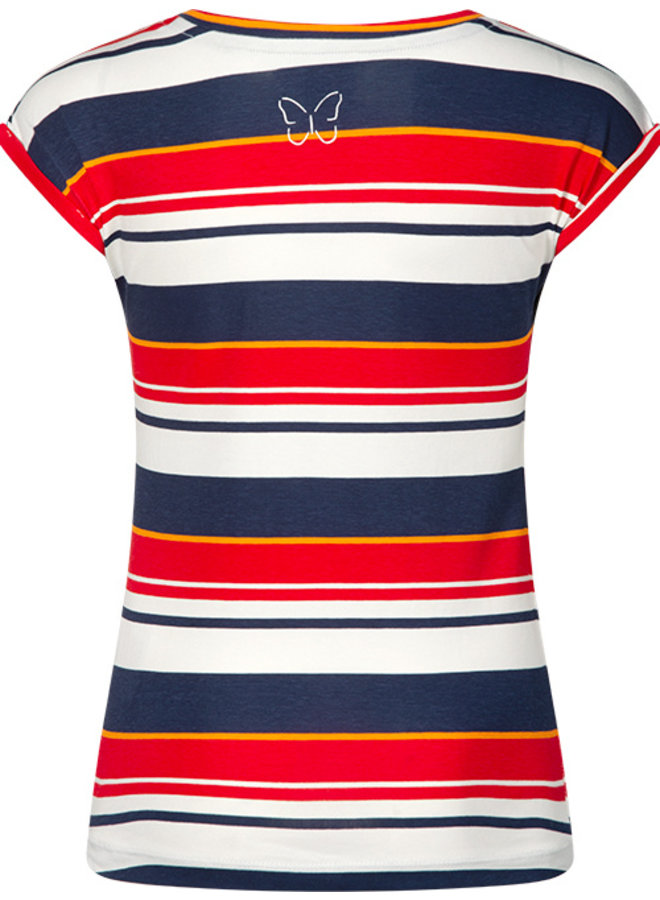 T-shirt Tally red stripe