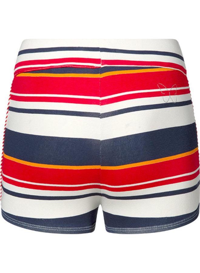 Korte broek Sandy red stripe