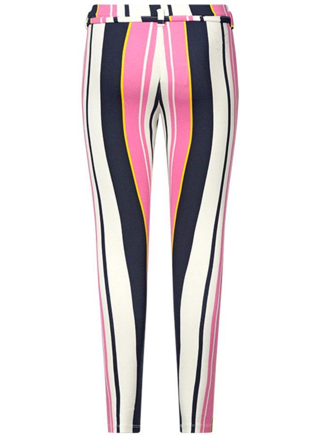 Broek Suze pink stripe