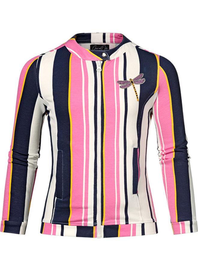 Tara pink stripe