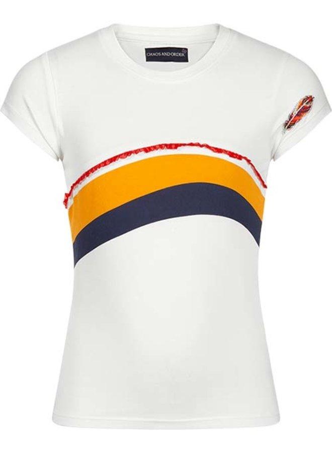 T-shirt Tanja off white red