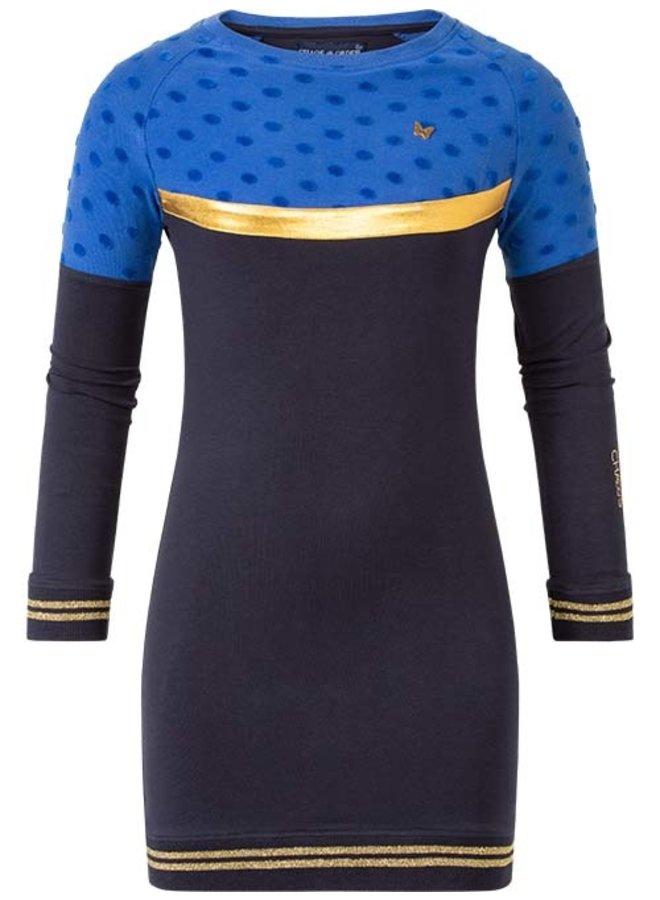 Dress Olivia cobalt dot
