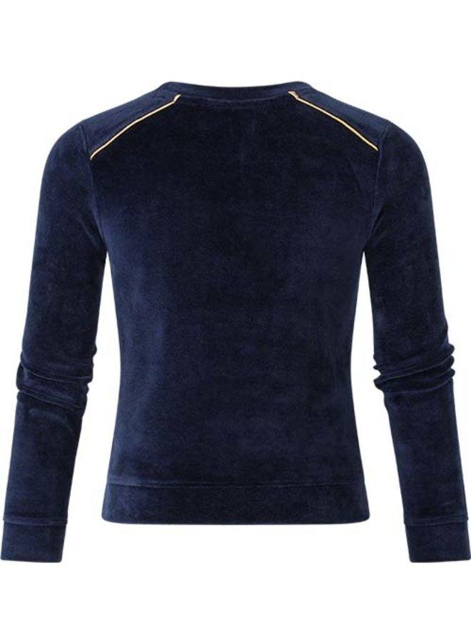 Velours sweater Puk navy