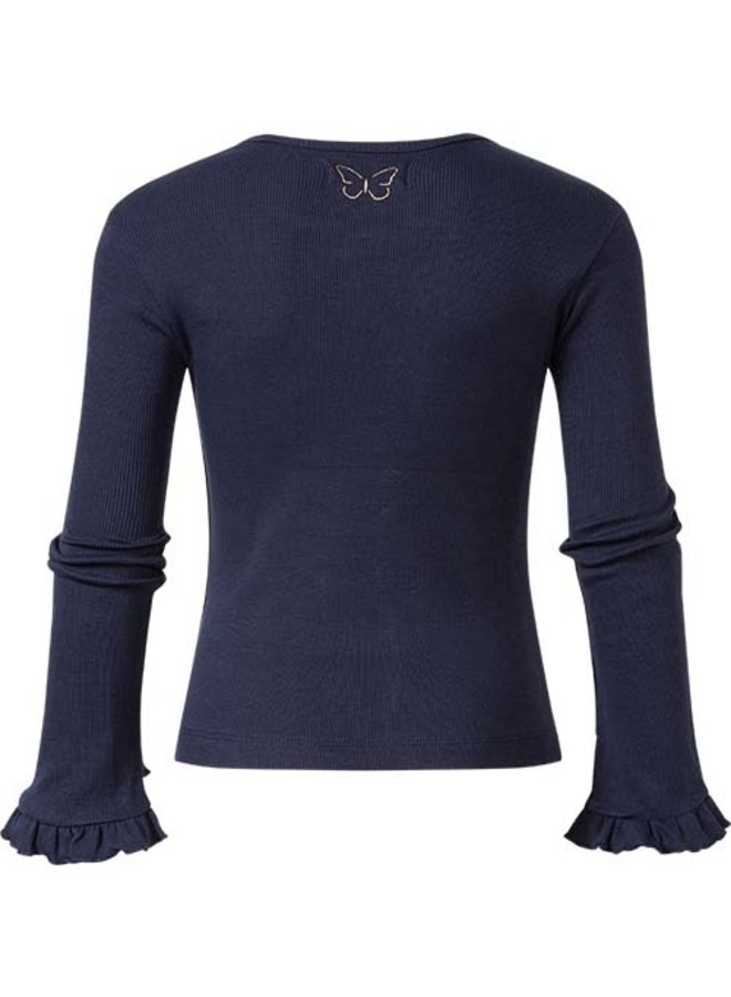 Rib shirt Philou navy