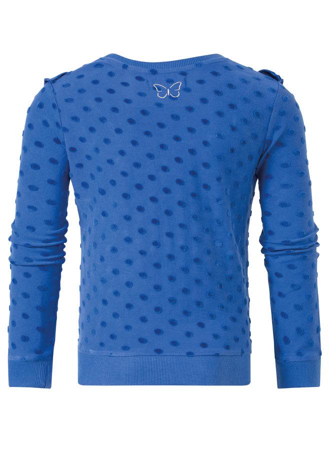Sweater Pleun cobalt dot