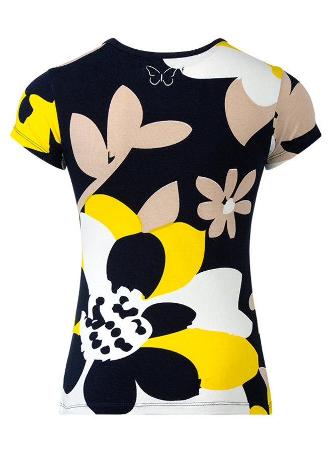 T-shirt Roxy blauw  bloem