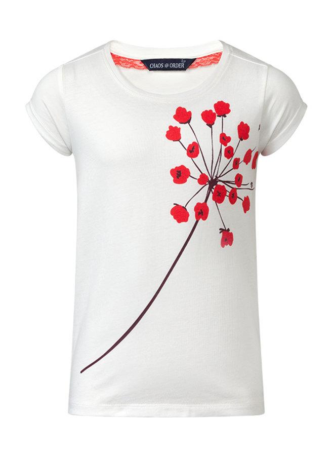 T-shirt Ravi off white flower