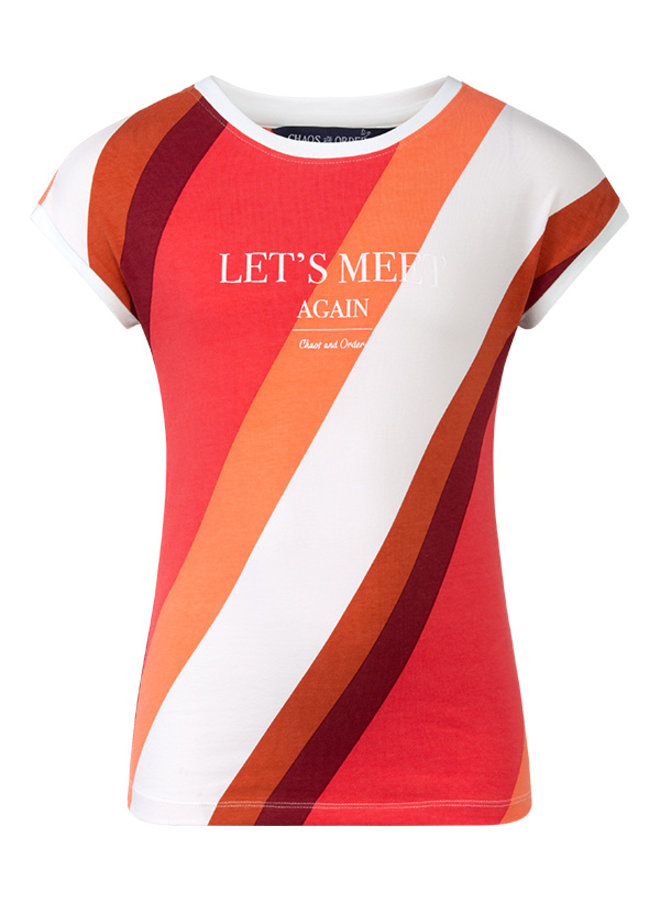 T-shirt Roos rood