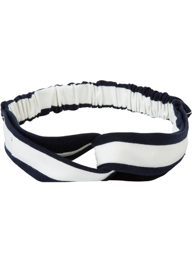 Haarband Tina blauw streep