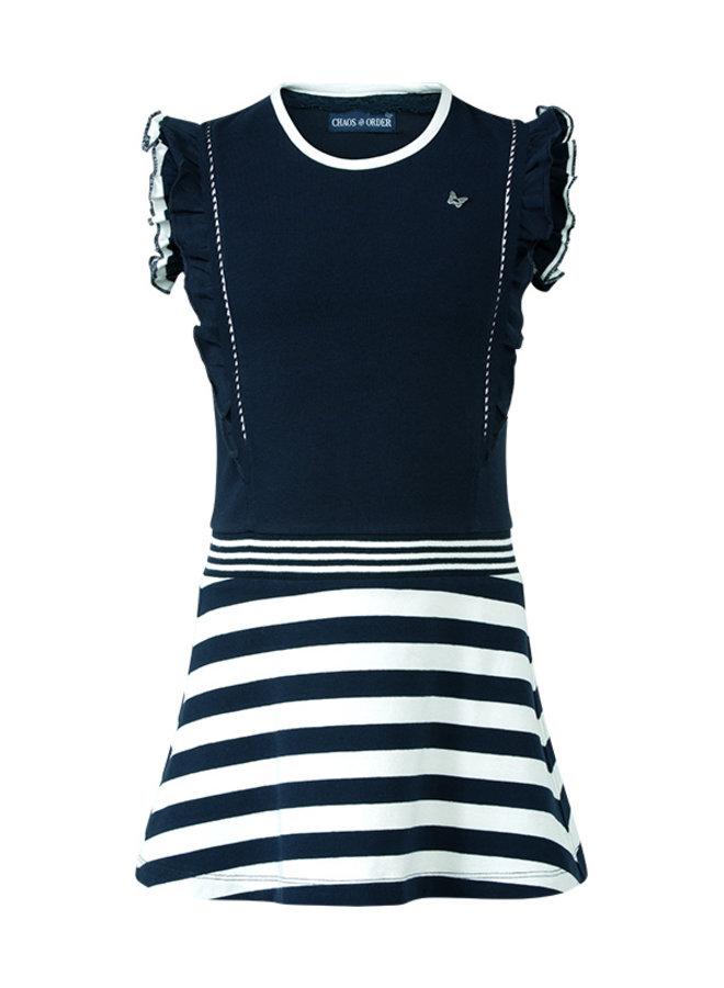 Nanda blauw wit streep