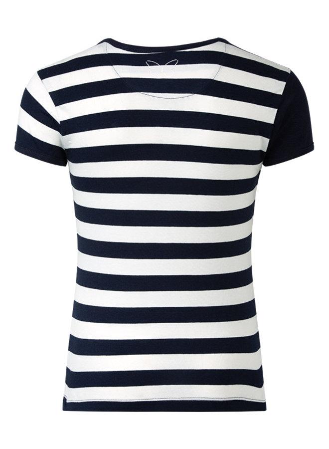 T-shirt Roxy blauw wit streep