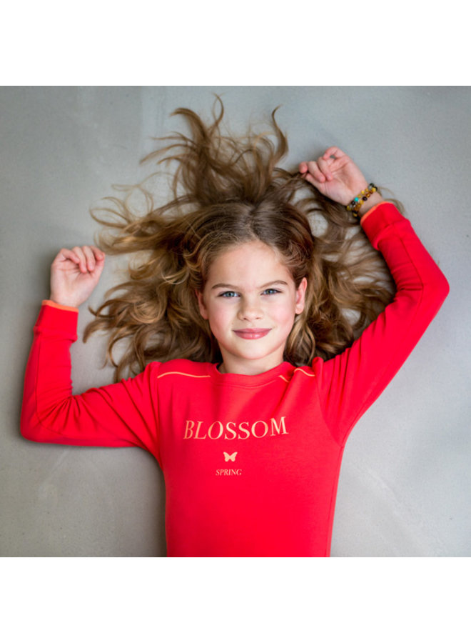 Sweater Blossom red