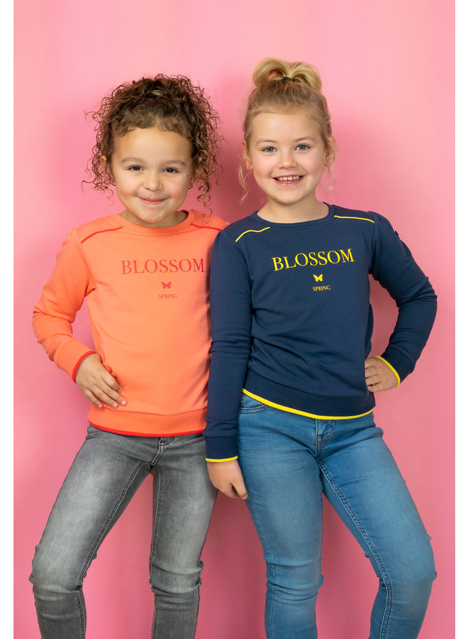 Sweater Blossom navy