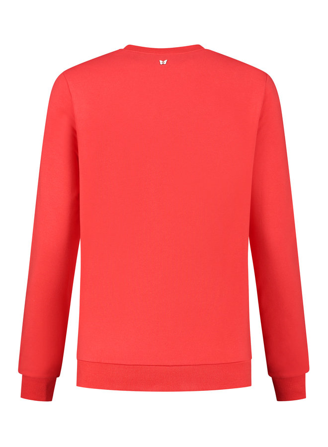 Dames sweater Laura red