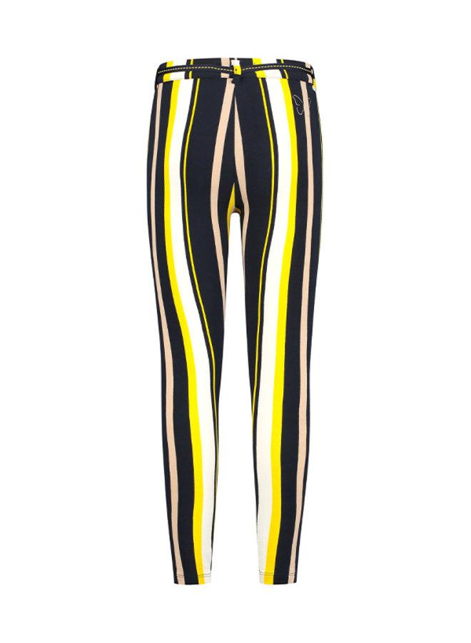Broek Suze geel streep