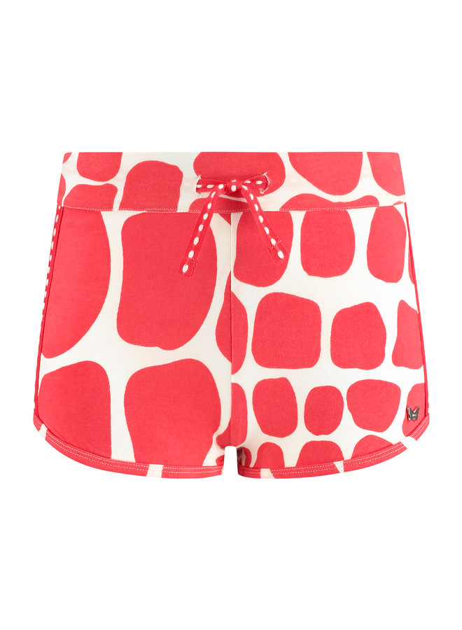 Shorts Sandy rood print