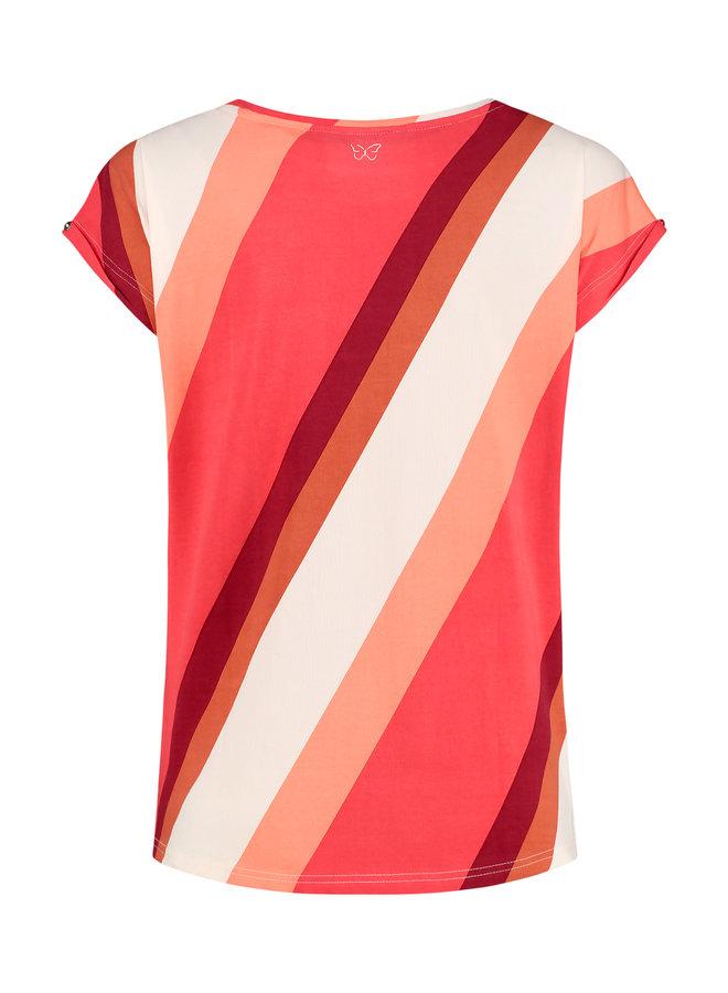 T-shirt Milli red stripe