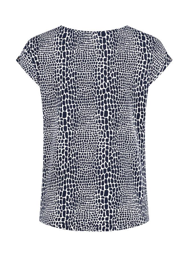 T-shirt Milli navy print