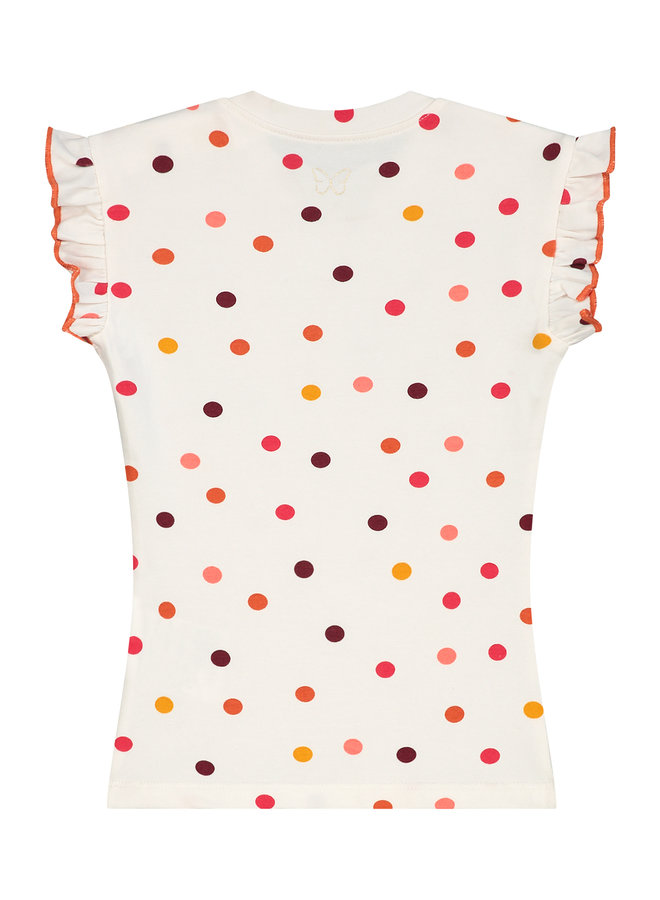 T-shirt  Silke offwhite dot