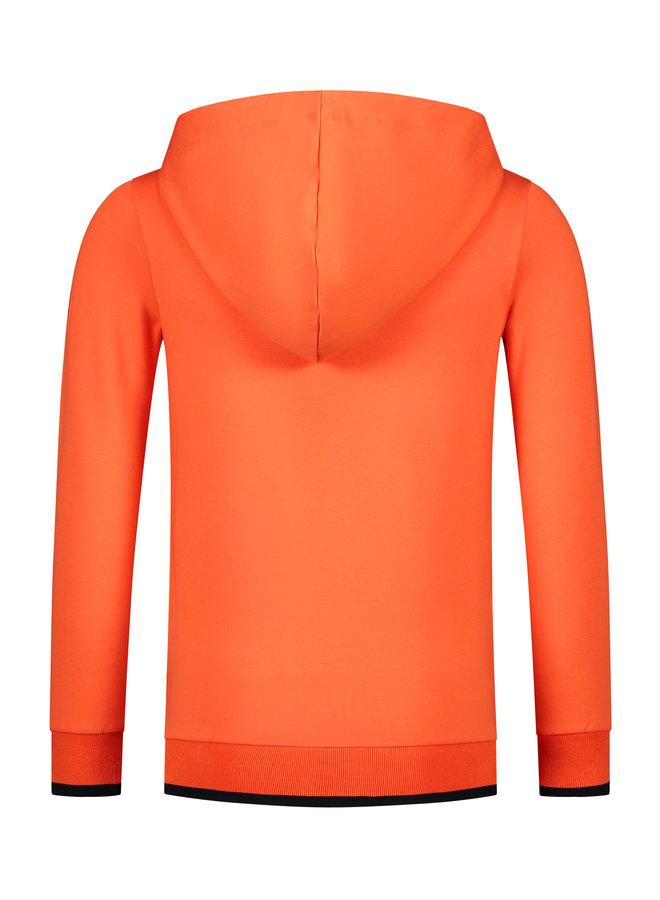 Hoodie Tijn orange