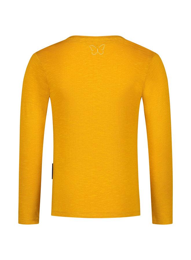 T-shirt lange mouw Kaatje yellow