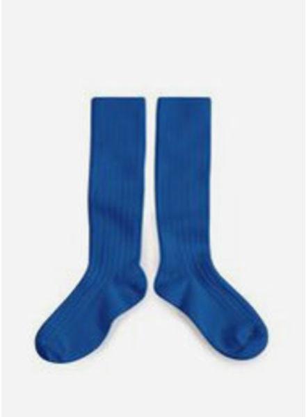 Collegien kniekous bleu eclatant