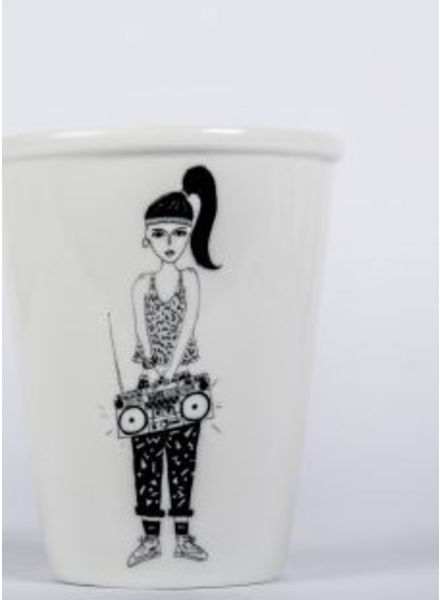 Helen B. Cup boombox girl