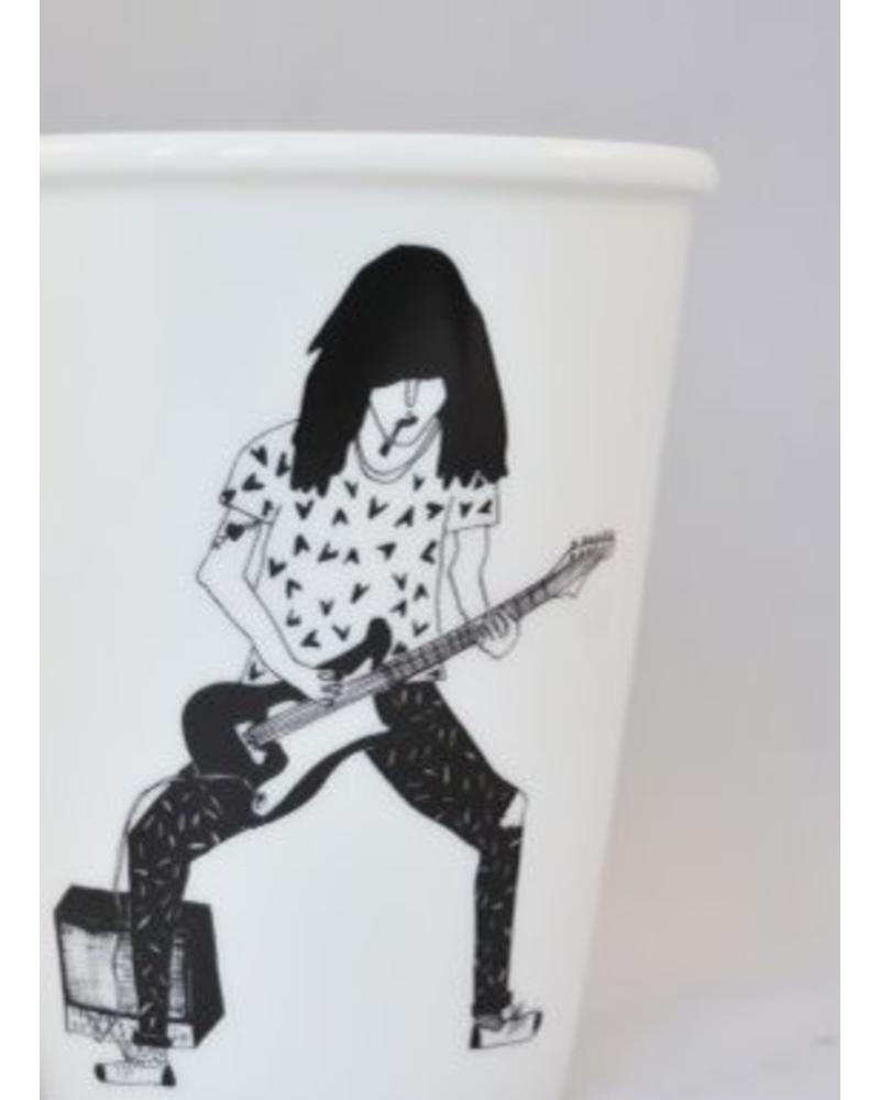 Helen B. cup guitar player