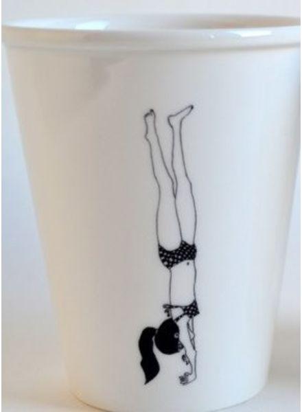 Helen B. cup handstand girl