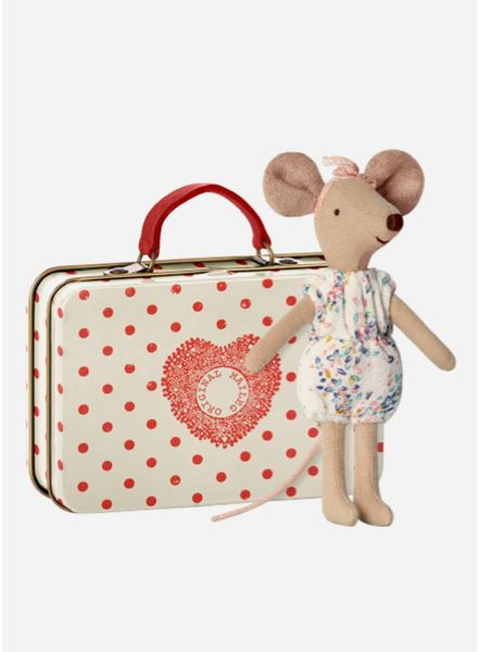 Maileg Mouse, Big Sister in suitcase