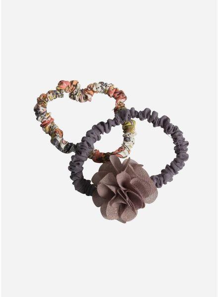 Maileg Hair elastics, fluff flower, brown, 2 pcs