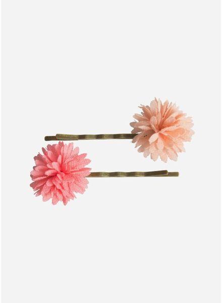 Maileg Bobbi pins, chiffon flowers, rose, 2 pcs