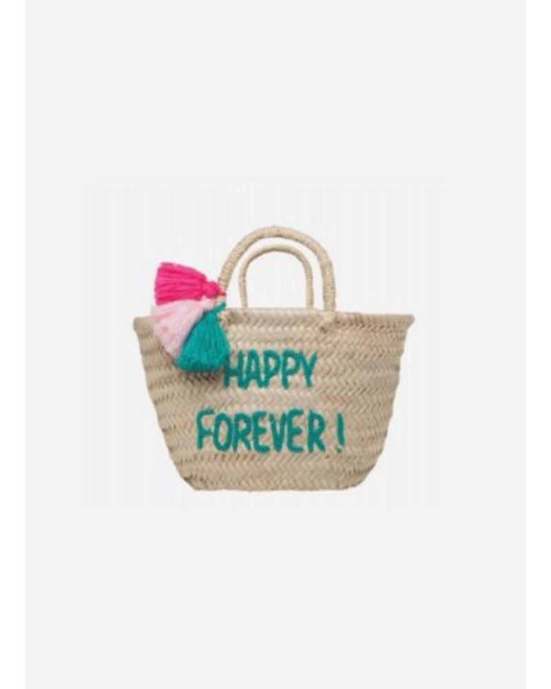 """Rose in April basket """"happy forever"""""""