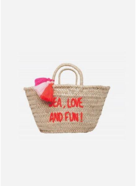 Rose in April basket sea, love, fun