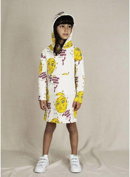 Mini Rodini moon hooded jurk offwhite