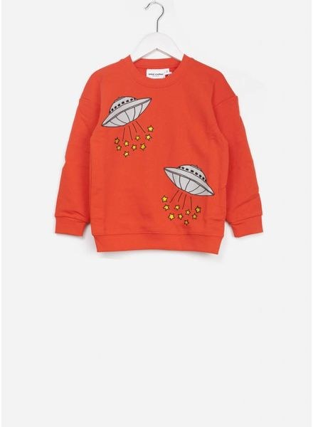 Mini Rodini ufo sweatshirt red