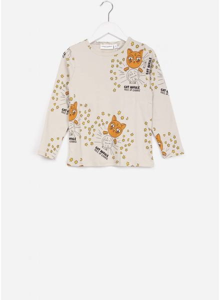 Mini Rodini cat advice t-shirt beige