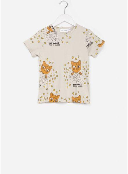 Mini Rodini cat advice t-shirt beige