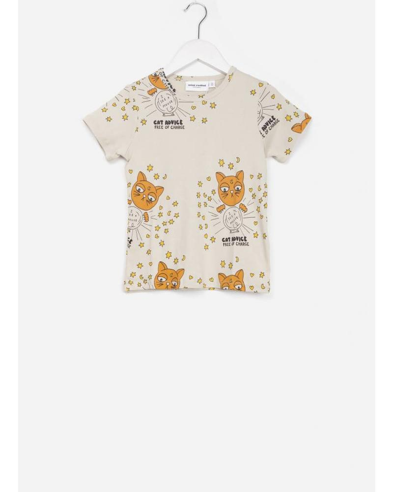 Mini Rodini cat advice ss tee beige