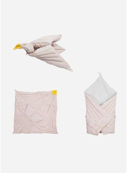Fabelab dreamy bird blanket mauve