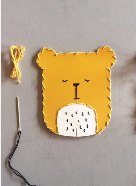 Fabelab animal embroidery kit bear