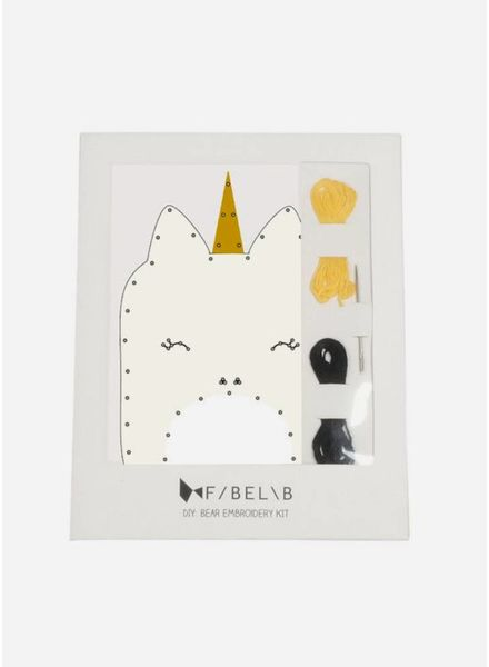 Fabelab animal embroidery kit unicorn