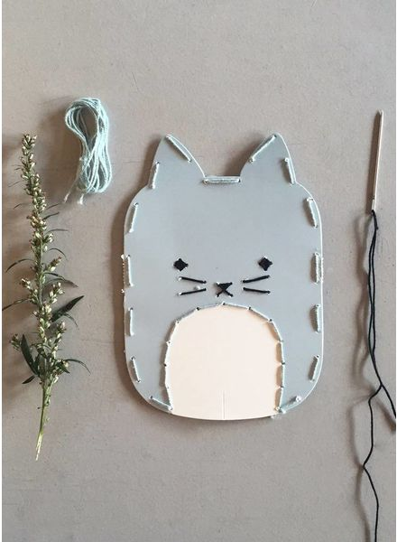 Fabelab animal embroidery kit Cat