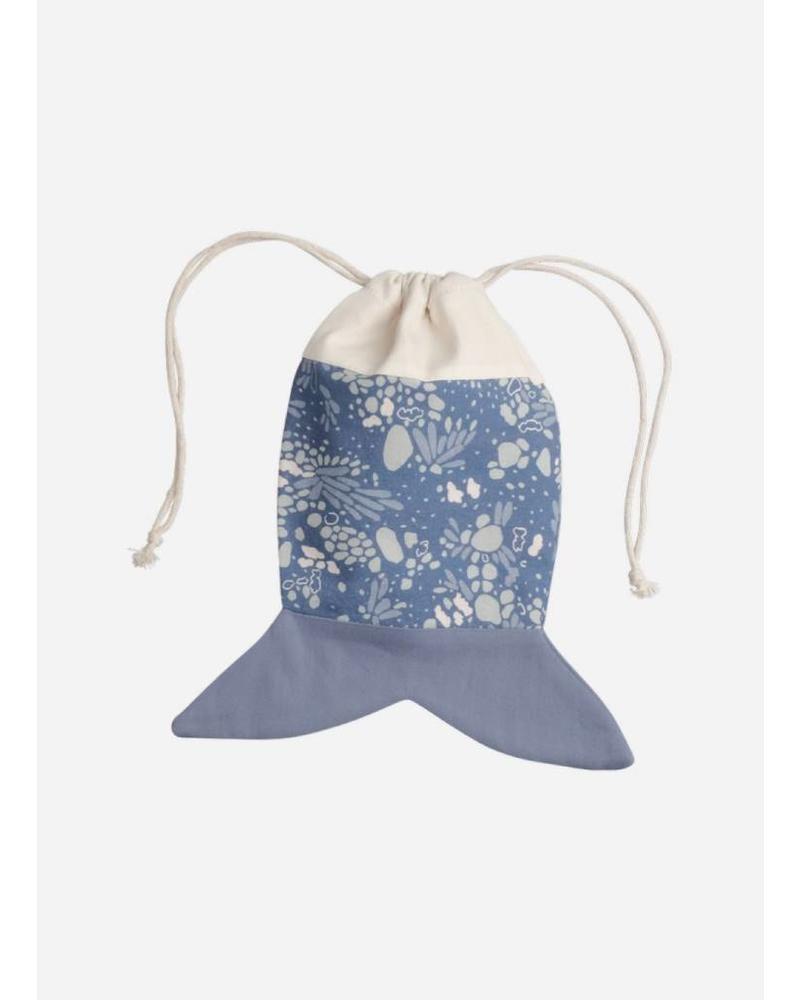 Fabelab fish pouch marina blue