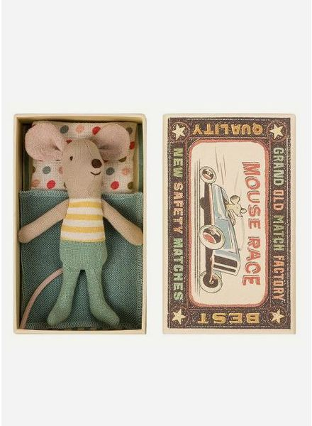 Maileg Mouse Little brother in box, streep trui