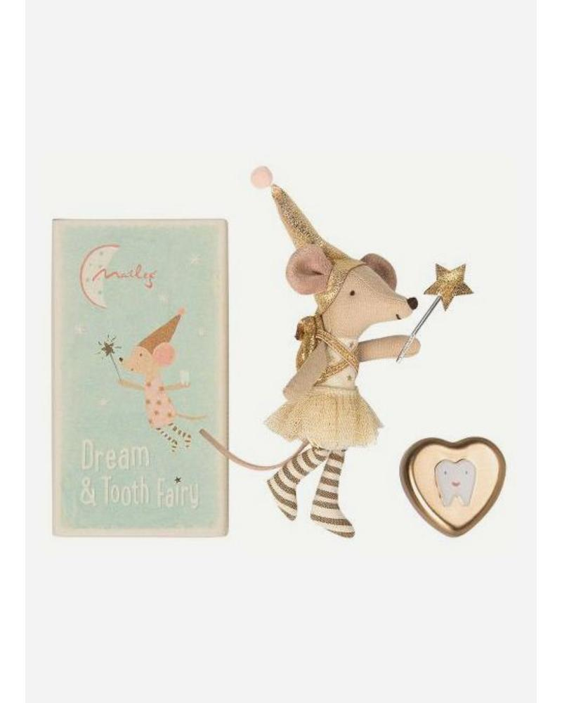 Maileg Mouse, Big Sister, Tooth fairy + Metal box