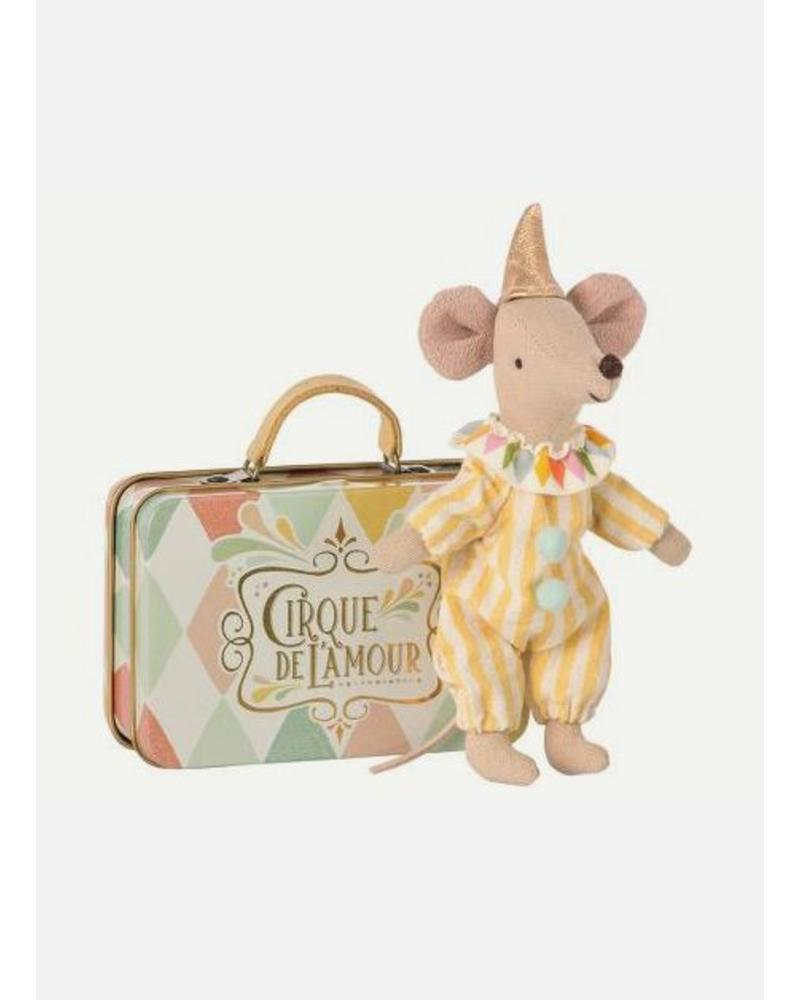 Maileg Mouse, Clown in suitcase