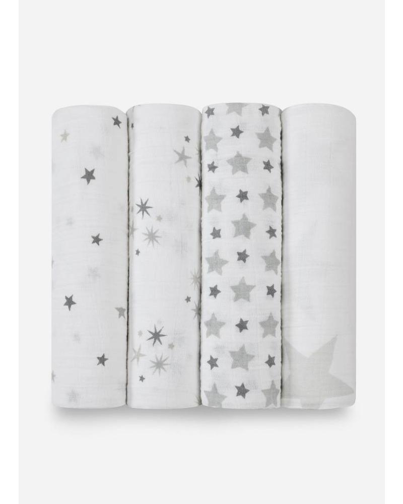 Aden and Anais swaddle sterren grijs