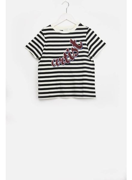 Indee t-shirt dallas artist stripe black